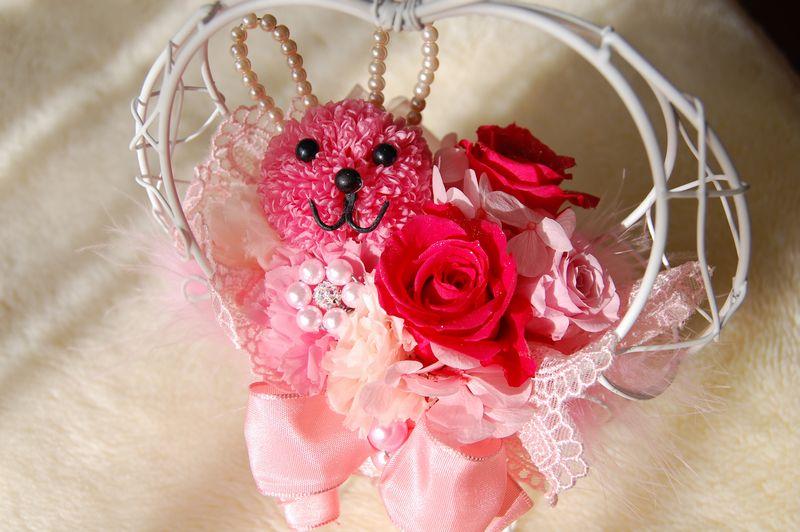 可愛いピンクのうさぎさんアレンジ!